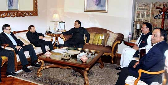 A delegation of MQM called on President Asif Ali Zardari at President House.