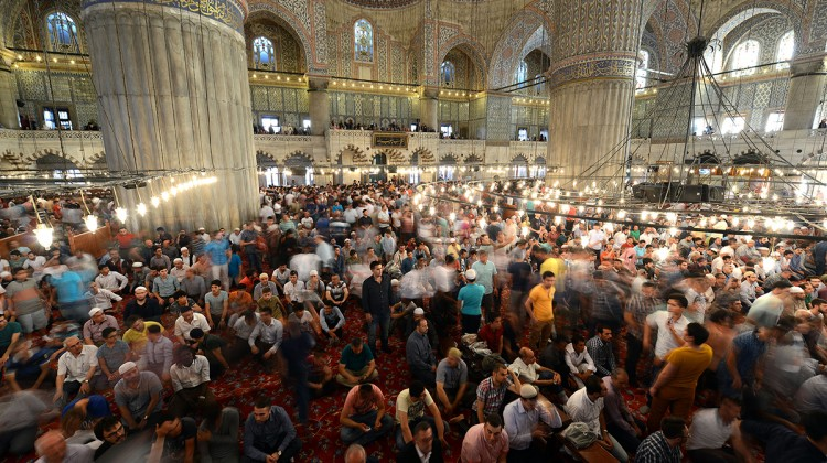 Blue Mosque in Istanbul during celebrations of Eid al-Fitr. Ozan Kose AFP Photo