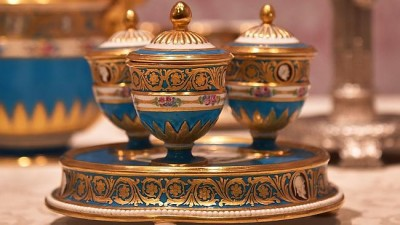 Catherine the Great's Sevres banquet dinner service is a highlight of the exhibition. Photo: Ellen Smith