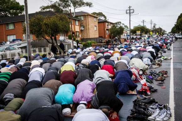 Eid prayers in Australia.