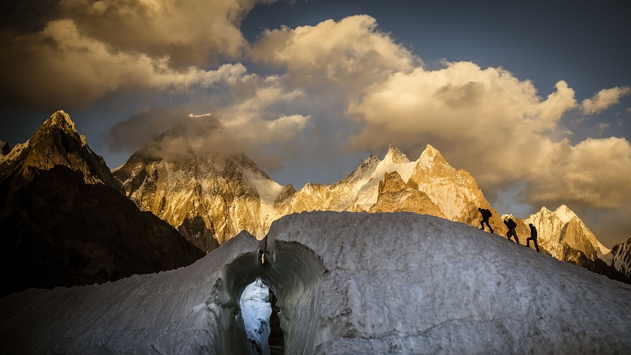 A view of the Gasherbrum IV massif. PHOTO: DAVID KASZLIKOWSKI