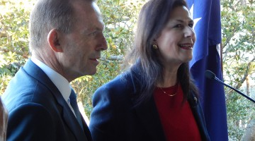 PM Tony Abbott & Senator Concetta Fierravanti-Wells at PM House (Photo by Sabeh of Tribune)