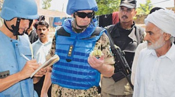 UN Peace Keepers along Pak-India border