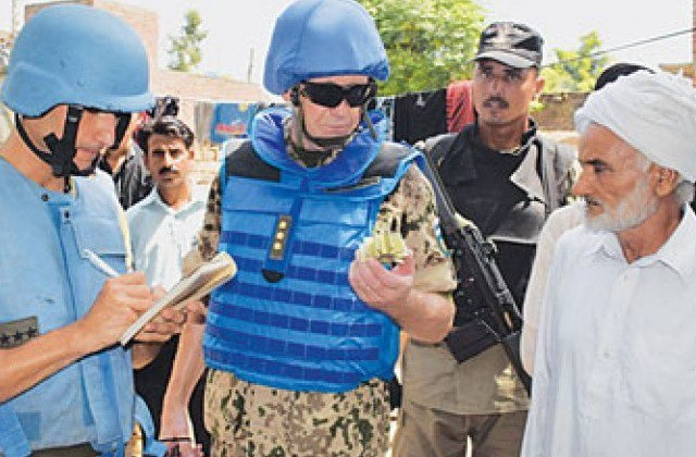 UN Peace Keepers along Pak-India border