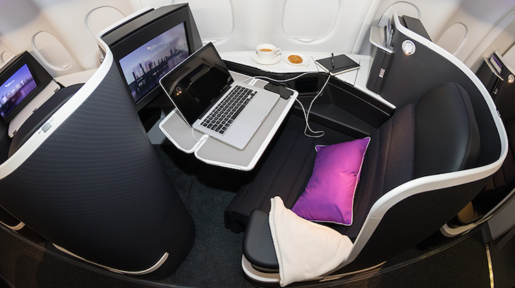 Virgin Australia's new business class seats are manufactured by B/E Aerospace. (Seth Jaworski)