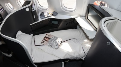 Virgin Australia's new A330-200 business class service to Perth will feature a turndown service including memory foam mattress toppers, pillows and donnas. (Seth Jaworski)