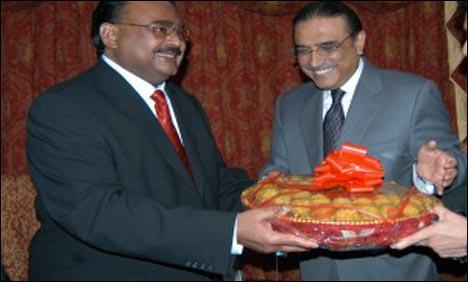 Asif Ali Zardari and Altaf Hussain