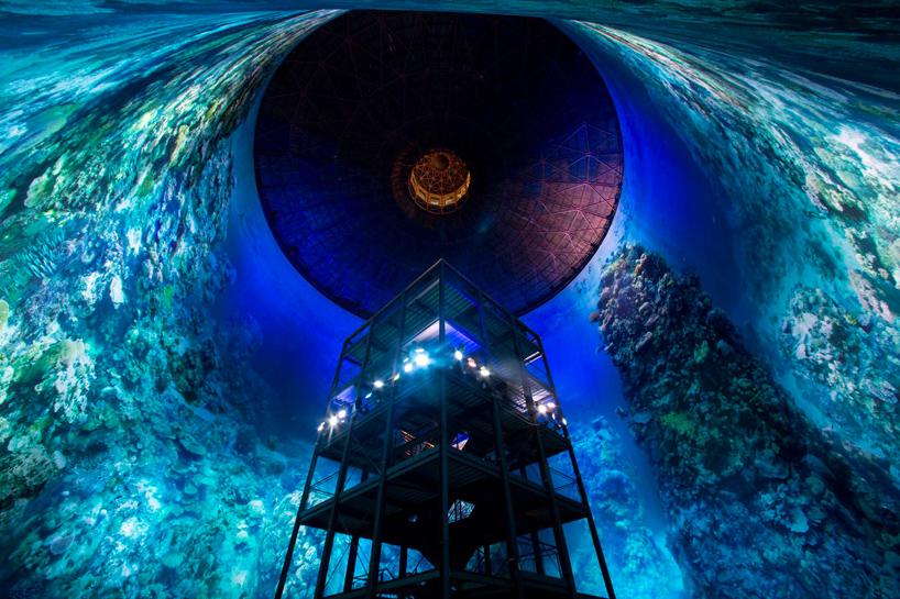 Artist Yadegar Asisi stunning Great Barrier Reef panoramic art installation at the Panometer in Germany. (Photo: Yadegar Asisi)