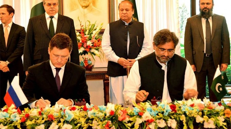 Pakistan and Russia on Friday signed an inter-governmental agreement for the construction of 1,100 km gas pipeline from Lahore to Karachi.