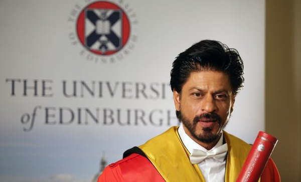 Bollywood actor Shah Rukh Khan rceives honorary doctorate from Edinburgh University