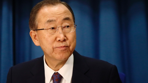 UN Secretary General Ban Ki-moon is to meet Israeli Prime Minister Benjamin Netanyahu today in Jerusalem and Palestinian President Mahmoud Abbas in Ramallah on Wednesday is a bid to ease tensions in the region. (Heinz-Peter Bader/Reuters)