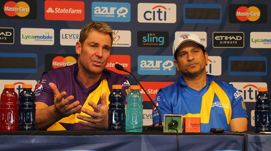 Shane Warne hopes someone watching the Cricket All-Stars currently would turn out one day to play for America at the World Cup. Photo by Peter Della Penna