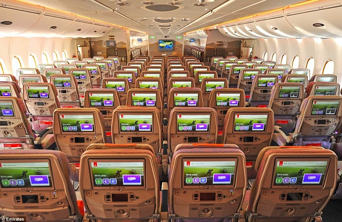 Emirates' new airline is spacious and comfortable, offering one of the industry's widest in-flight entertainment screens, at 13.3in