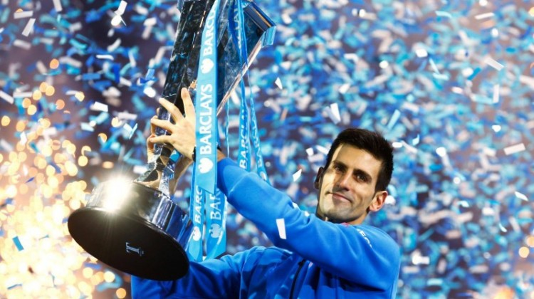 Novak Djokovic beat Roger Federer to win his fourth consecutive ATP World Tour Finals title and cap one of the greatest seasons in history. Photo: Getty Images