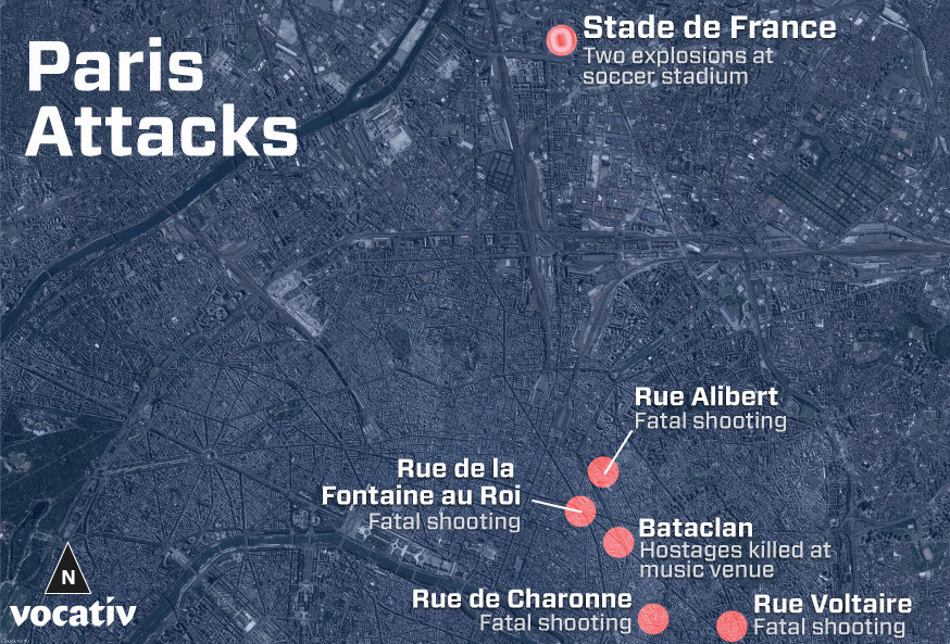 Paris-attack-location-map