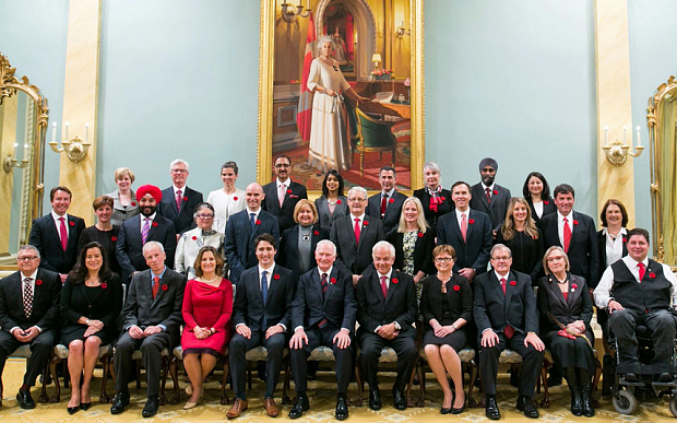 Canadian prime minister Justin Trudeau has named a gender equal cabinet Photo: Barcroft
