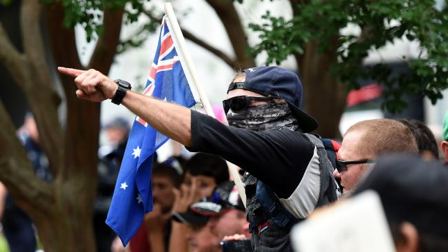 A protester at Reclaim Australia rally. Photo: Dan Peled