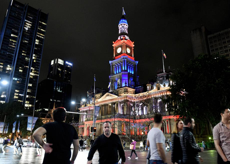 The Sydney Town Hall on Nov. 14, 2015, in New South Wales, Australia.