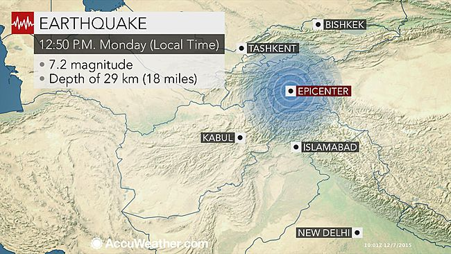 Magnitude 7.2 Earthquake hits Tajikistan, shakes Pakistan, India, Afghanistan