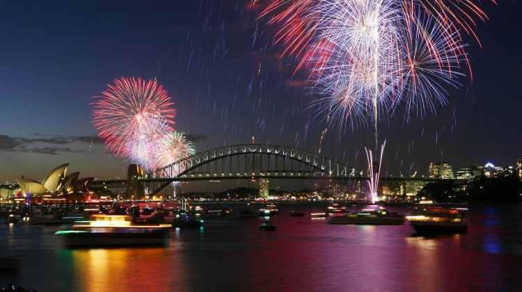 Fireworks lit up the sky in Sydney