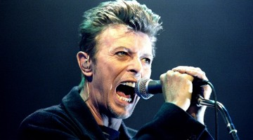 David Bowie on stage in 1996. Photograph: Leonhard Foeger/Reuters