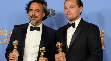 The Revenant was named best drama picture and DiCaprio and Inarritu walked to the stage to collect it together