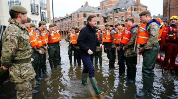 The British prime minister visited York last week to meet flood relief workers
