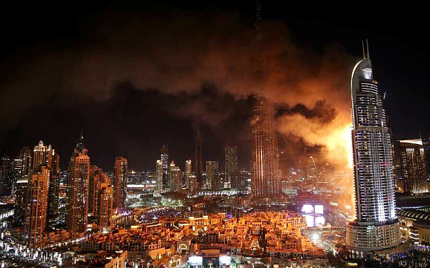 Fire engulfs Dubai's luxury Hotel