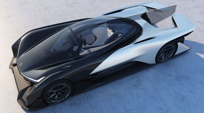 Faraday Future unveils the 'Tesla killer': Mysterious Chinese-backed firm reveals its bizarre 1,000-horsepower electric car