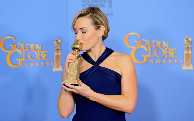 Actress Kate Winslet, winner of Best Performance by an Actress in a Supporting Role in a Motion Picture.