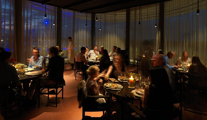 Diners at Noma Sydney in the new Barangaroo development. Photograph: Lendlease