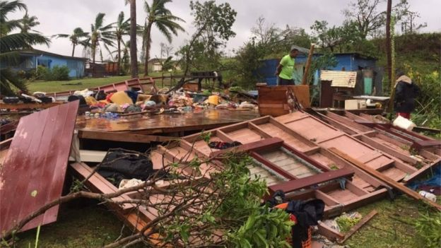 At least five dead in Fiji Cyclone Winston