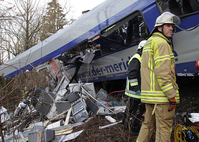 The scene at the site of the crash was one of total devastation. Photo: DPA