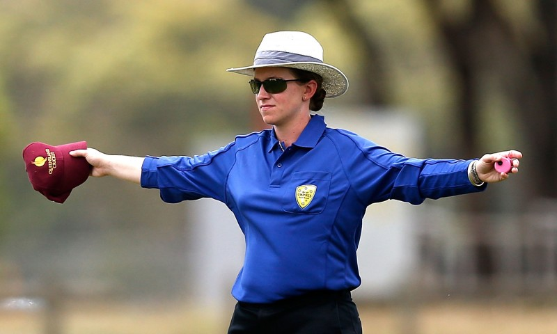 Australian Claire Polosak and her New Zealand counterpart Kathy Cross will become the first women to adjudicate at any T20 World Cup after being included in a 31-person team of officials to oversee the concurrent men's and women's tournaments. Photograph: Darrian Traynor/Getty Images