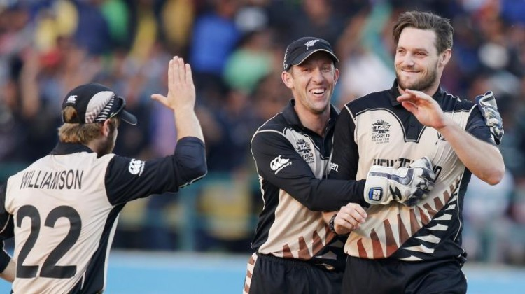 New Zealand's second win in two games makes them firm favourites to reach the semi-finals of the tournament but is a big blow to Australia's hopes of winning a trophy that has so far proven elusive. (Photo: AP)