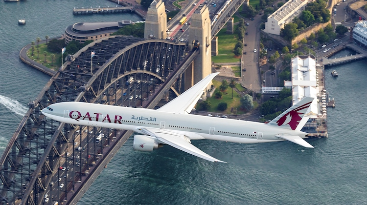 Qatar Airways begins new route to Sydney Airport. Photographer Seth Jaworski captured the aircraft as it headed into Sydney.