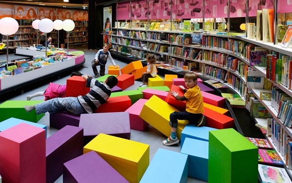 New Library in Netherlands is a vibrant community and a place where people would stay and hang out