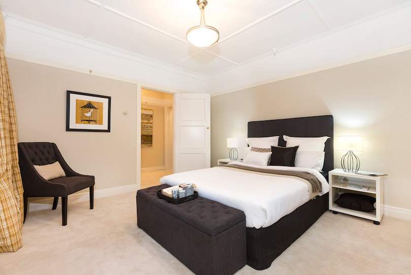 The three-bedroom property comes with two bathrooms and a parking space spanning around 1,300 square metres.