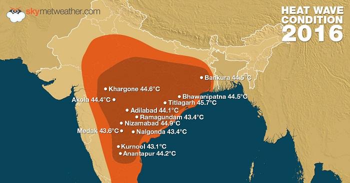 India heat wave 2016