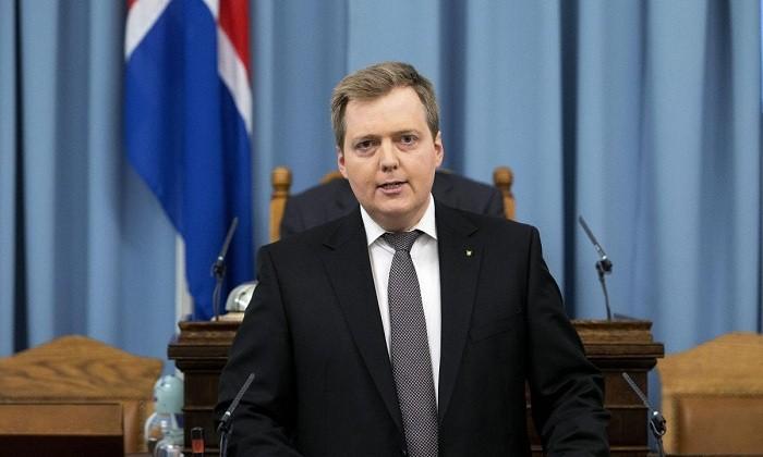 Iceland's Prime Minister Sigmundur David Gunnlaugsson