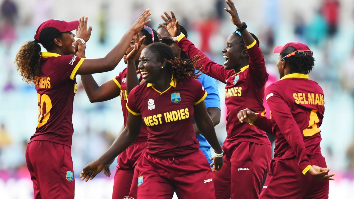 The West Indies chased down a record total to win their first women's World Twenty20 crown in the final against Australia. Photo: Dibyangshu Sarkar/AFP/Getty Images