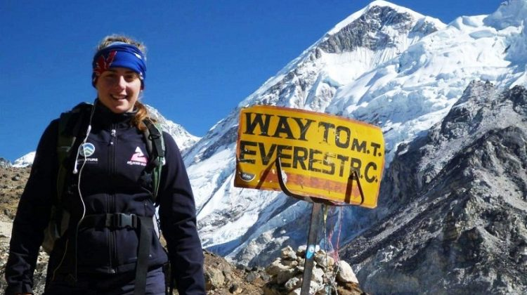 Alyssa Azar on her way to Everest base camp in April 2014. Photo: Facebook