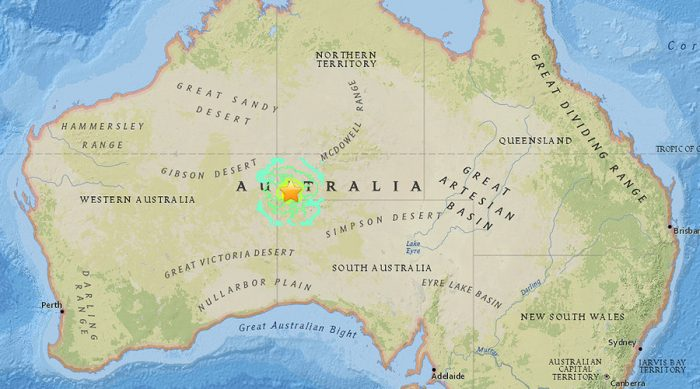 Magnitude 5.9 earthquake hit central Australia