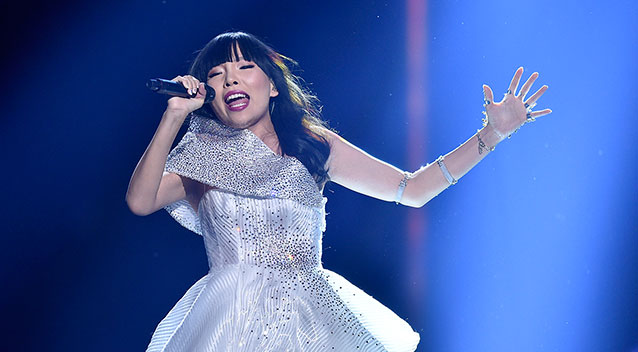 Australia's Dami Im performing at Sound of Silence at Eurovision 2016
