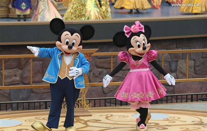 Mickey and Minnie at the opening ceremony of Shanghai Disney Resort