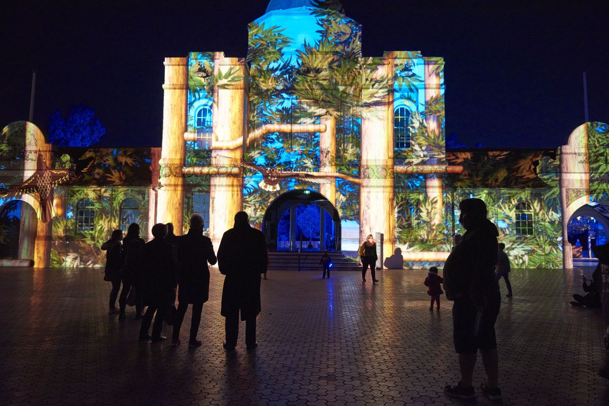 The entrance to Vivid at Taronga Zoo. Photo: James Horan/Destination NSW