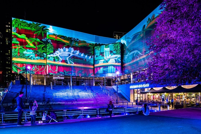 Gondwana Light Lab at Chatswood. Photo: James Horan/Destination NSW