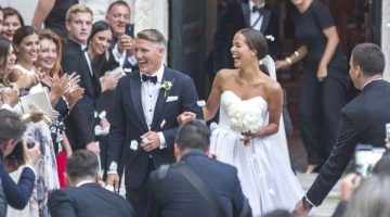 Ana Ivanovic and Bastian Schweinsteiger tie the knot in Venice