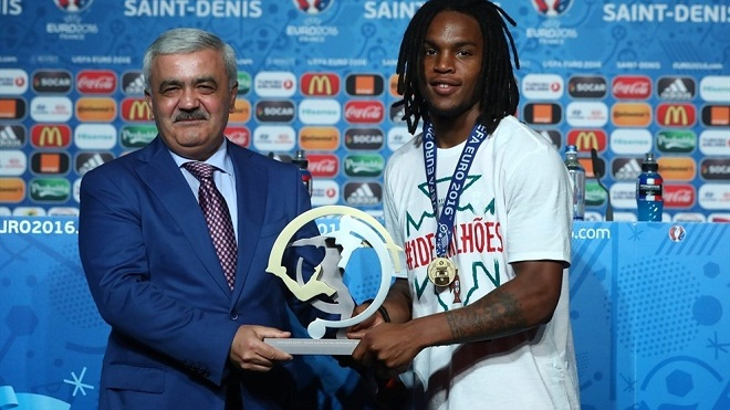 Portugal midfielder Renato Sanches has been named as SOCAR Young Player of the Tournament at UEFA EURO 2016