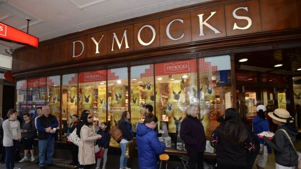 Queues of Harry Potter fans waited for hours to get their hands on Harry Potter and the Cursed Child at Dymocks in Sydney. Photo: Wolter Peeters